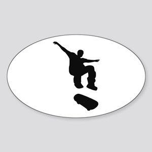 Skateboarding Sticker (Oval)